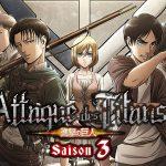 L'ATTAQUE DES TITANS, le début de la troisième saison en Blu-Ray et DVD